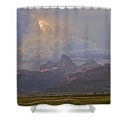 Light Storm Shower Curtain