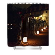 Light The Way Home For The Holidays Shower Curtain