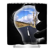 Light The Way Home Shower Curtain