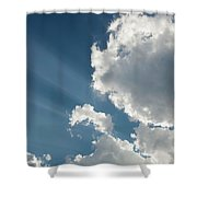 Light Through The Clouds Shower Curtain
