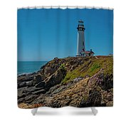 Light Tower Panoramic Shower Curtain