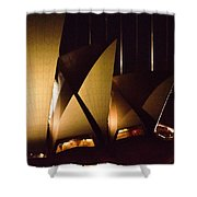 Light Up Sail Of Opera House  Shower Curtain