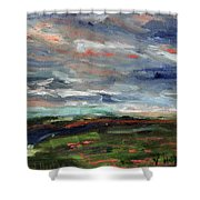 Light Upon The Marsh Shower Curtain