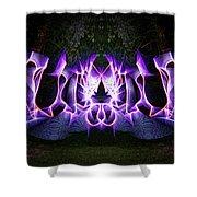 Light Wave Grafitti Shower Curtain