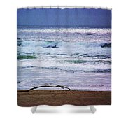 Light Waves To Sand Shower Curtain