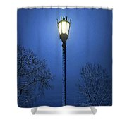 Light Winter Blue Shower Curtain