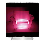 Lighted Chair 3 Shower Curtain