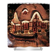 Lighted Christmas House  Shower Curtain