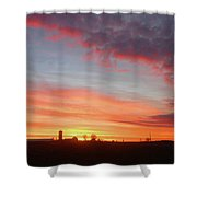 Lighted Clouds Shower Curtain