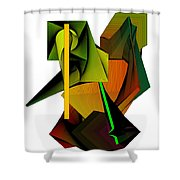 Lighted Composiiton Shower Curtain