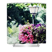 Lighted Flowers Shower Curtain