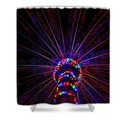 Lighted Palm Shower Curtain