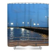 Lighted Pier Shower Curtain
