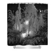 Lighted Star Fountian Shower Curtain