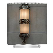 Lighted Wall Sconce Shower Curtain