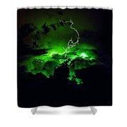 Lightening Storm  Shower Curtain