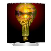 Lighthearted Sunset Shower Curtain
