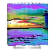 Lighthouse 2 Shower Curtain