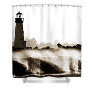 Lighthouse 3 Dreamy Shower Curtain