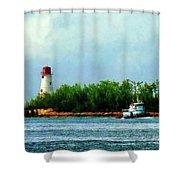 Lighthouse And Boat Nassau Bahamas Shower Curtain