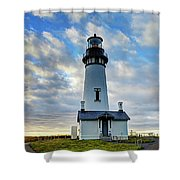 Lighthouse And Clouds Shower Curtain