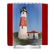 Lighthouse And Entry Shower Curtain