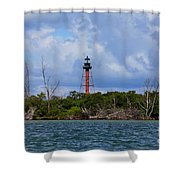 Lighthouse At Anclote Key Shower Curtain