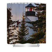 Lighthouse At Bass Harbor Shower Curtain