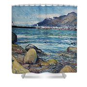 Lighthouse At Kalk Bay Cape Town South Africa 2016 Shower Curtain