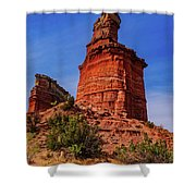 Lighthouse At Palo Duro Canyon Shower Curtain