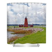 Lighthouse At Port Kissimmee On Lake Tohopekaliga In Central Florida   Shower Curtain