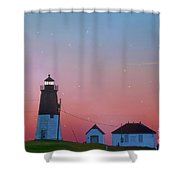 Lighthouse At Sunrise Shower Curtain