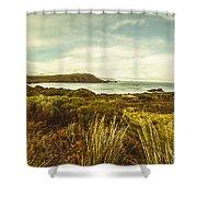 Lighthouse Bay Beach Bruny Island Shower Curtain