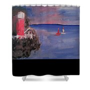 Lighthouse Shower Curtain