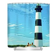 Lighthouse Bodie Island Shower Curtain