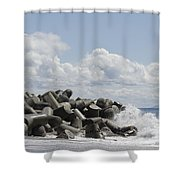 Lighthouse By The Bay Shower Curtain