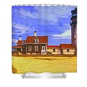 Lighthouse Cape Cod Shower Curtain