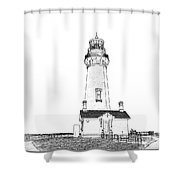 Lighthouse Computer Drawing Shower Curtain