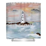 Lighthouse Cove Shower Curtain