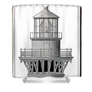 Lighthouse Detail Shower Curtain