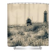 Lighthouse Fade Shower Curtain
