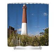 Lighthouse From Dunes Shower Curtain