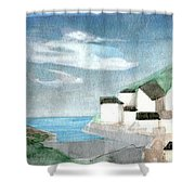 Lighthouse Harbour 2  Shower Curtain