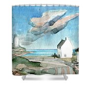Lighthouse Harbour 3 Shower Curtain