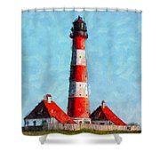Lighthouse - Id 16217-152045-8706 Shower Curtain