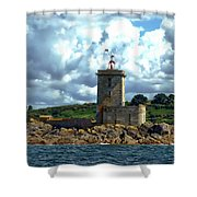 Lighthouse Ile Noire Shower Curtain