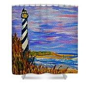 Lighthouse- Impressionism- The Coast Shower Curtain
