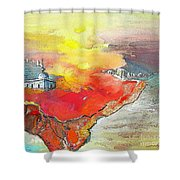 Lighthouse In Albir On The Costa Blanca Shower Curtain