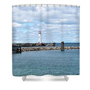 Lighthouse In Michigan Shower Curtain