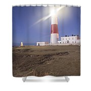 Lighthouse In Portland Bill Shower Curtain